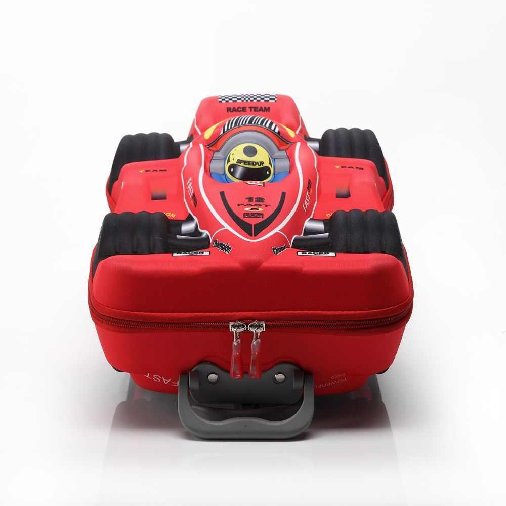 Kids Cars Reisbagage 3D Stereo Traplopen Trekstang Doos Cartoon Kind Potlood Doos Kinderen Cool School Koffer Boarding doos