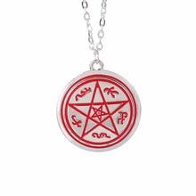 Supernatural necklace Dean pentagram Pentacle Rune silver pendant movie jewelry for men and women wholesale graceful pentagram necklace for women