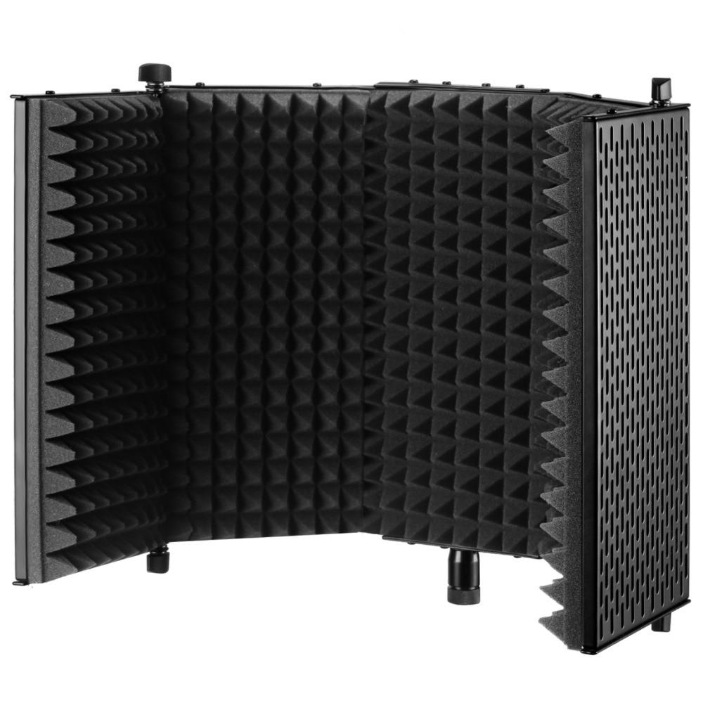 Neewer NW-1 Foldable Adjustable Studio Recording Microphone Isolator Panel Aluminum Acoustic Isolation Microphone Shield neewer nw 700 condenser microphone
