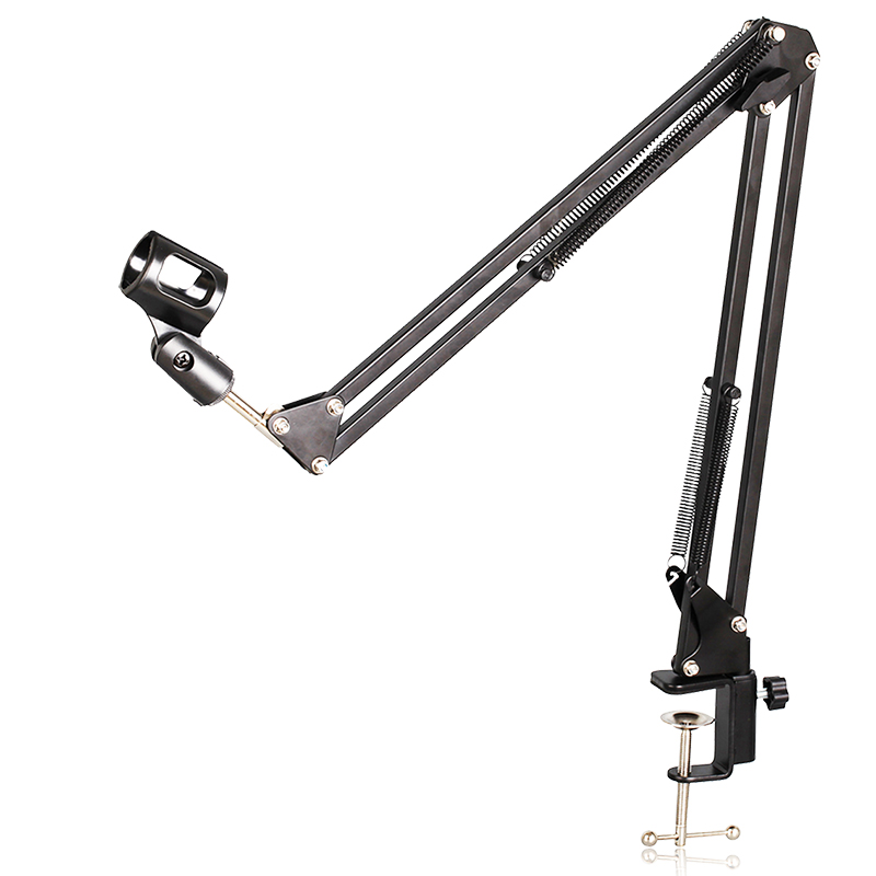 NB-35 Professional Adjustable Metal Suspension Scissor Arm Microphone Stand Holder For Mounting On Desk Table Top