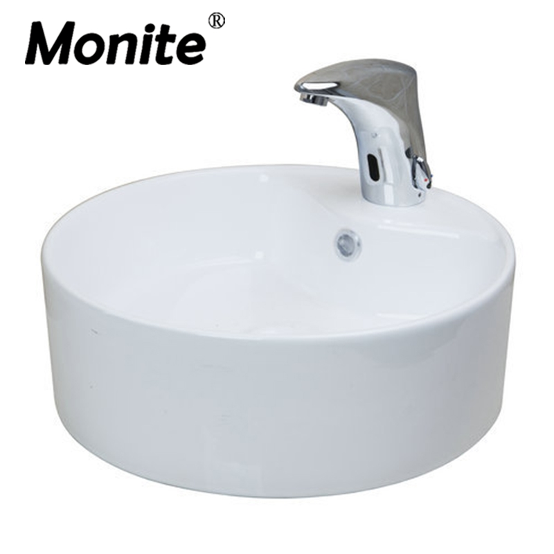 2015 New White Ceramic Washbasin Vessel Lavatory Basin Bathroom Sink TD3030