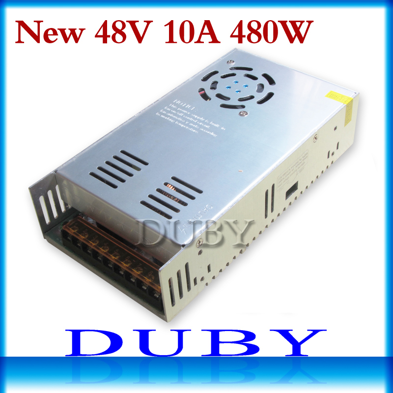 2pcs/lot 48V 10A 480W Switching power supply Driver For LED Light Strip Display AC100-240V Factory Supplier Free shipping switching power supply 600w48v driver switch cnc router parts factory supplier free shipping