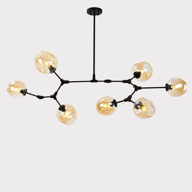 Glass Ball Branching Bubble Pendant Chandeliers For Dining Room Living Room Modern Chandelier Lighting Lustre Led Avize E27 Lamp