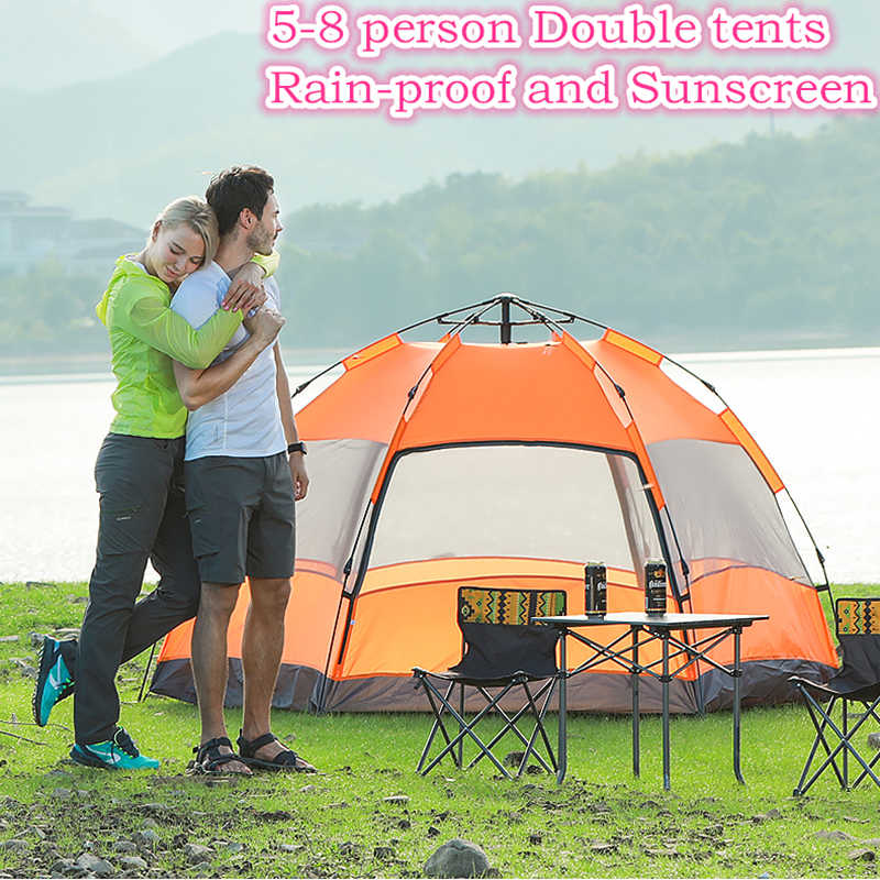5-8 Person 270X270X150cm Double Layer Weather Resistant Outdoor C&ing Tent for Fishing Hunting & Detail Feedback Questions about 4 8 Person 280*200*120cm Big Size ...