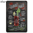 [inFour+] Hot Bloody MARY Cocktail Metal Signs Home Decor Vintage Tin Signs Pub Home Decorative Plates Metal Sign Wall Plaques