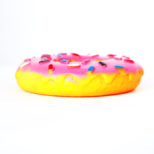 Petcircle New funny Dog Toys Puppy Dog and Cat Toys Pet Squeak Toys Donuts Rubber Dog Chew Toys can make sound