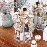Acrylic Cosmetic Storage Box 360 Degree Rotary Storage Rack Organizer makeup organizer rangement maquillage