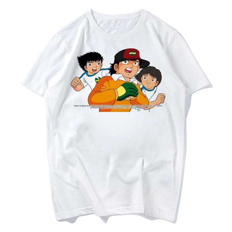Captain Tsubasa 2018 Fashion Short T Shirt Printed Funny T