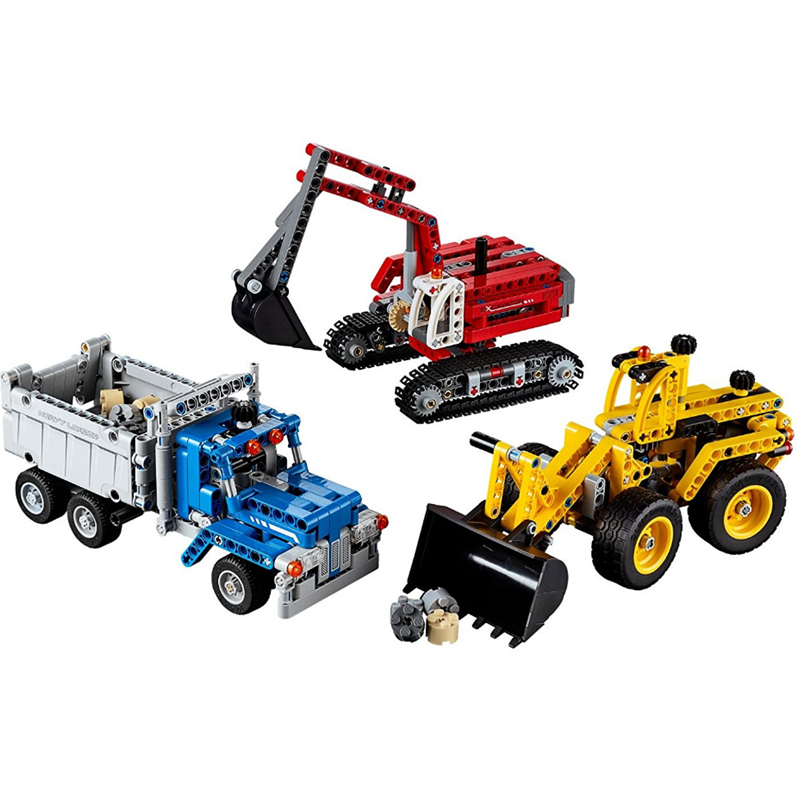 Decool Technic City Series Construction Crew Corps Excavator Building Blocks Bricks Model Kids Toys Marvel Compatible Legoings decool technic city series 2 in 1 helicopter building blocks bricks model kids toys marvel compatible legoings
