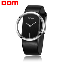 DOM Watches Women Top Brand Luxury Casual Leather Quartz Watch Female Clock Girl Dress Wrist Relogio