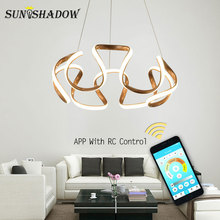 Simple Led Pendant Light Luminaires Gold Modern Hanging Lamps For Home Living room Bedroom Dining Kitchen