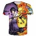 Clássico camisas Naruto Kyuubi Naruto Anime camisetas Harajuku tee Uchiha Sasuke Imprime tshirts Homens Mulheres 3D t camisa Do Moderno topos