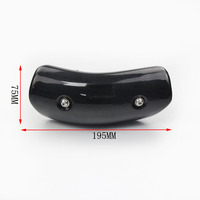 Motorcycle Exhaust Carbon Fiber Heat Shield Cover GY6 Scooter For Akrapovic Exhaust Heat Shield Cover