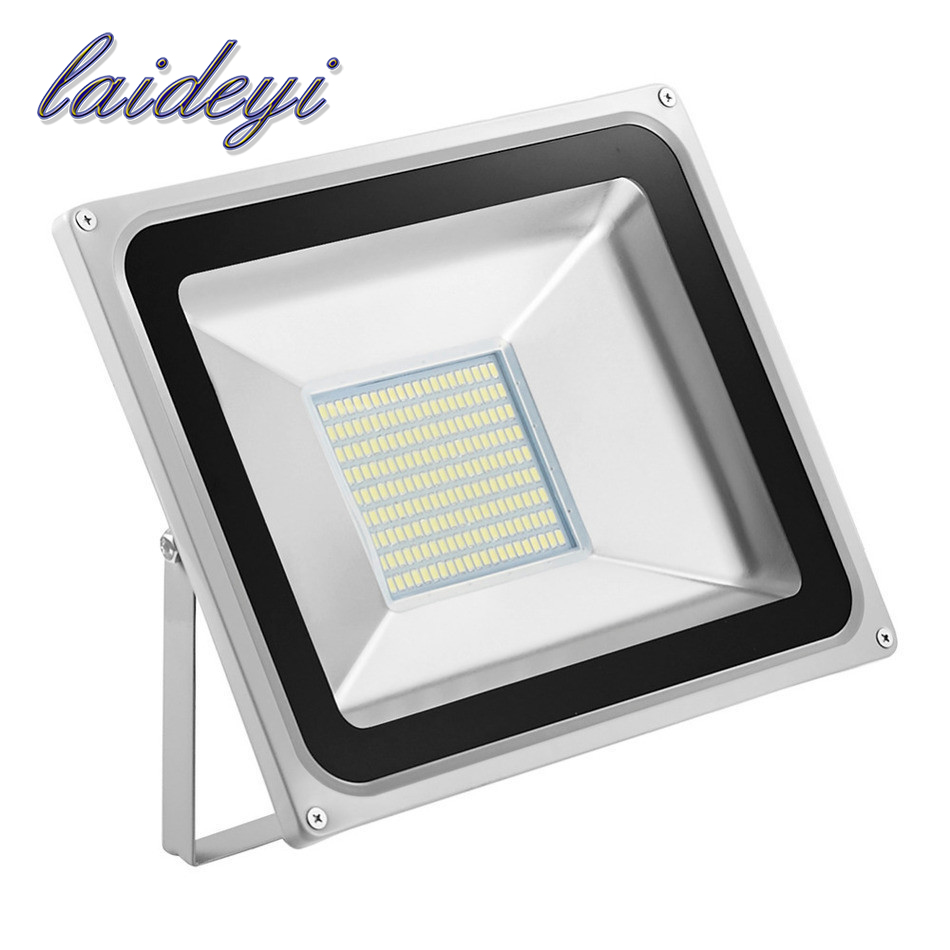 10pcs Flood Light utendørs lys 100W 220V 5600LM 189LED SMD 5730 Lyskaster For Street Square Spotlight Outdoor Wall Lamp