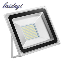 10pcs Flood light outdoor lights 100W 220V 5600LM 189LED SMD 5730 Floodlights For street Square Spotlight Outdoor Wall Lamp