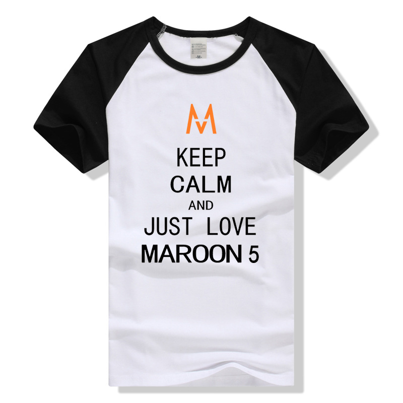 TEEWINING Keep Calm Tshirt Maroon 5 Men Women Unisex T Shirt Rock Band Maroon5 T-shirt