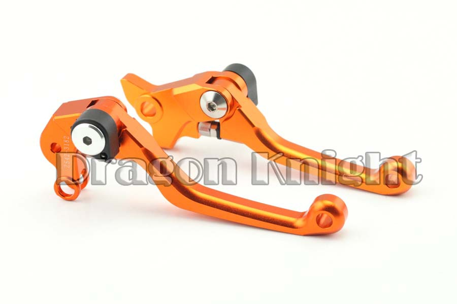 Motorcycle Billet A Pair Of Orange CNC Aluminum Short Brake Clutch Levers Custom For KTM SX 65 2004-2011, SX 85 2003-2012