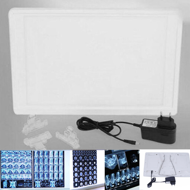 Dental X-Ray Film Illuminator Light Box LED Light Panel A4 With Bracket Clip Clinic Chair Unit Viewer Reader Equipment 3pcs set dental instrument dental x ray sensor positioner holder dental digital x ray film locator for dental lab free shipping