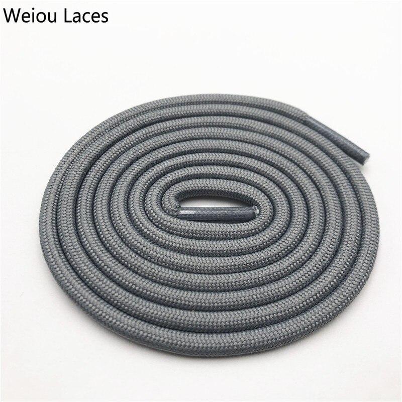 Weiou 0,5 см круглые спортивные шнурки из полиэстера толстые походные шнурки одежда веревка для скалолазания шнурки для ботинок Детские мужские - Цвет: 2711Gray