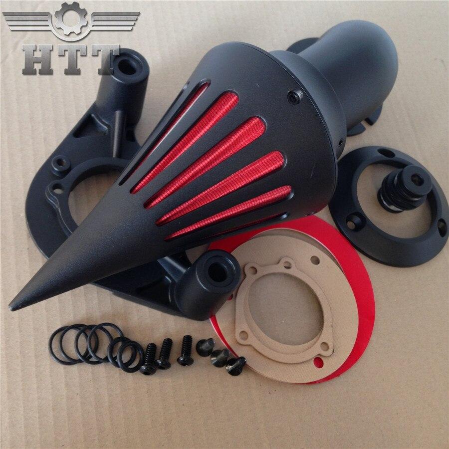 Послепродажного бесплатная доставка Спайк воздухоочиститель фильтр для 2010 модели Harley dyna с посещением черный