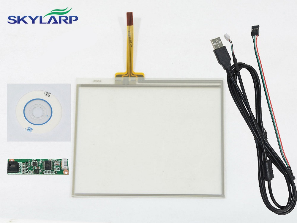 New 5 Inch 4Wire Resistive Touch Screen Panel USB Controller for 5 inch LCD 109*89mm Screen touch panel Glass Free shipping new 4 3 inch lcd screen touch screen lms430hf11 003 free shipping