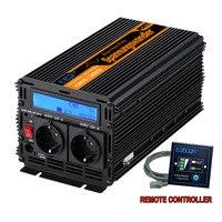 Чистая Синусоидальная волна инвертирующий усилитель мощности DC12V для AC220V 1500 Ватт пик 3000 Вт на открытом воздухе дома и школы преобразователь