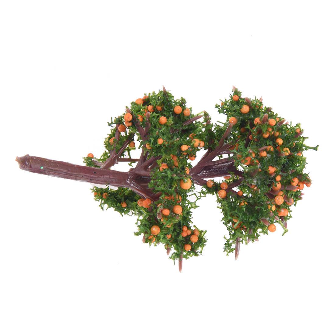 Миниатюрная эмуляция оранжевого дерева мох бонсай мини пейзаж DIY ремесло садовое украшение