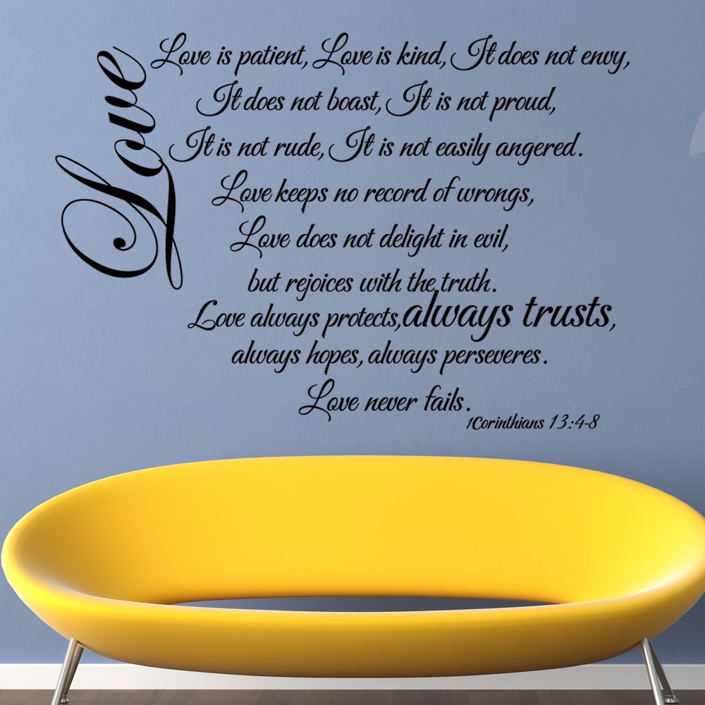 Love Is Patient (Love Chapter) Wedding Decoration Wall Decal Quote ...