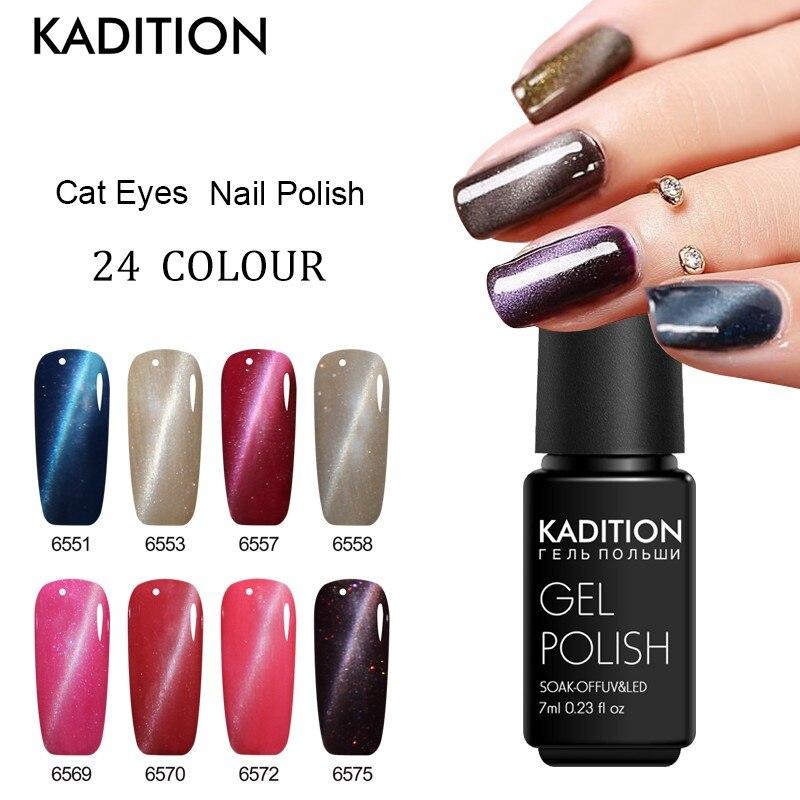 Gel Nail Soak Off Kit: KADITION Soak Off LED UV Gel Polish Manicure Cat Eye Gel