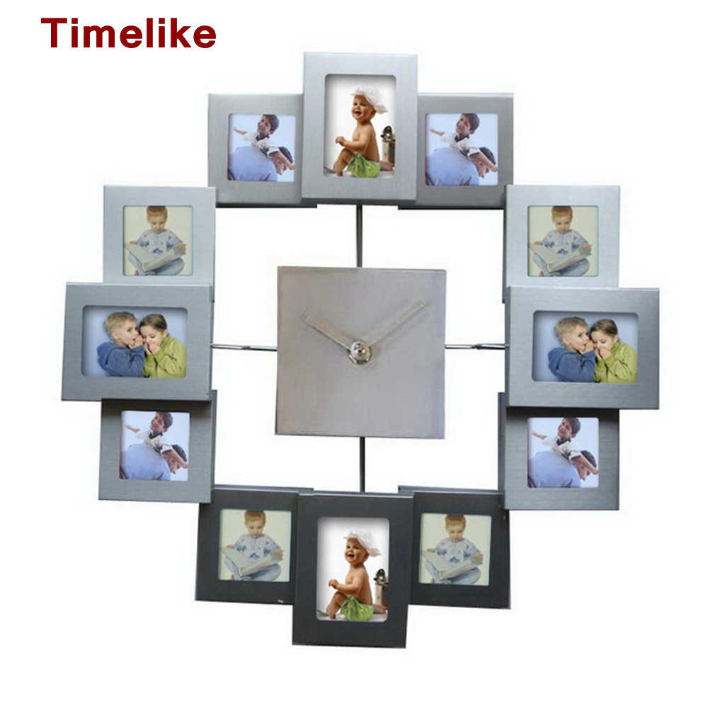 European Style Photo Frame Wall Clock Modern Design Watch Home Decoration for Living RoomEuropean Style Photo Frame Wall Clock Modern Design Watch Home Decoration for Living Room