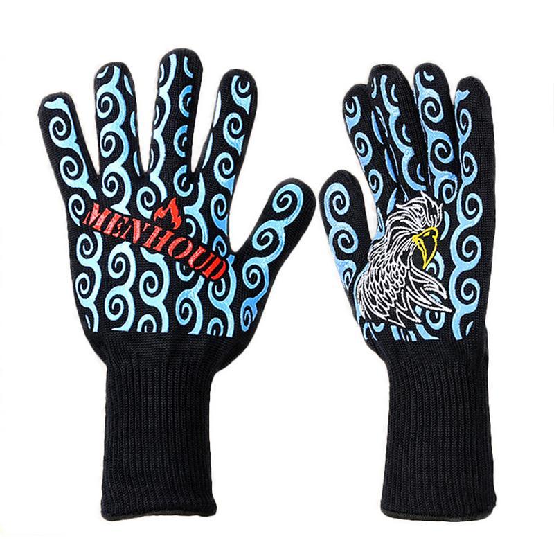 Высокая Температура перчатки Микроволновая печь Кухня барбекю изоляции анти-жгучие перчатки