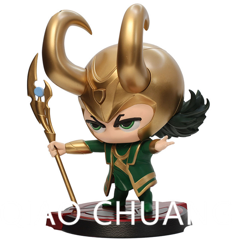 The Avengers 3: Part 1 Q-version Bobblehead Loki Supervillain Loki Laufeyson Dark Magic PVC Action Figure Bambola G1181
