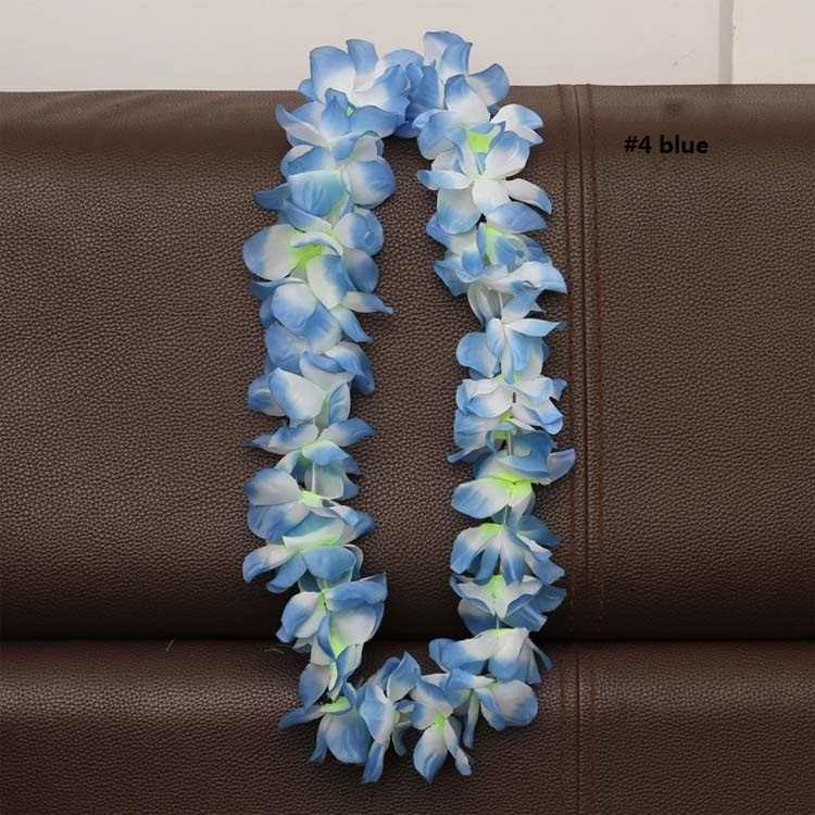 Гавайские Искусственные цветы leis гирлянда на шею цветы DIY модные аксессуары для платьев Гавайское мультяшное украшение для вечеринок