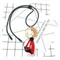 Ожерелье 2016 колье акриловые ожерелья черный цветок Ювелирные Изделия геометрические ZA Кожаные кулон Себе Ожерелье ювелирных изделий бижутерии kolye