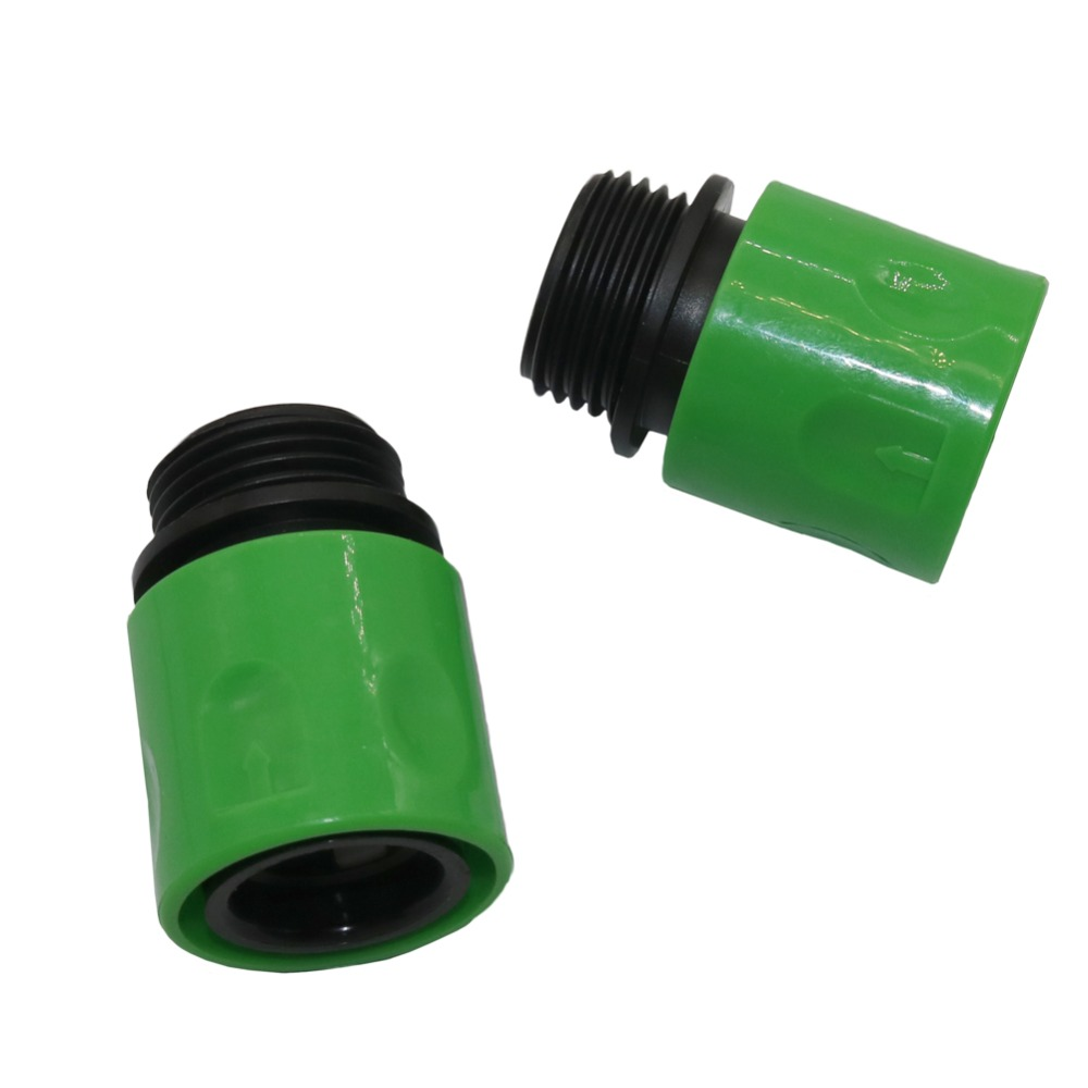 2 Pcs 3/4 Inch Male Thread Quick Connectors Garden Watering Irrigation Hose  Couping Connectors Home Garden Accessories