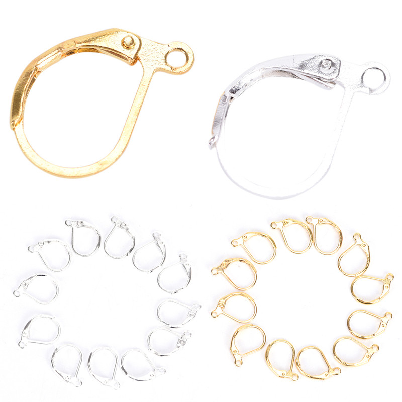 50/100PCS Jewellery Components Handmade DIY Jewelry Earrings French Earring Lobster Clasps Hooks Findings Fittings