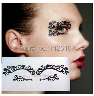 (Pedido mínimo 5 $) venta caliente moda papel corte ojo pegatinas - Maquillaje