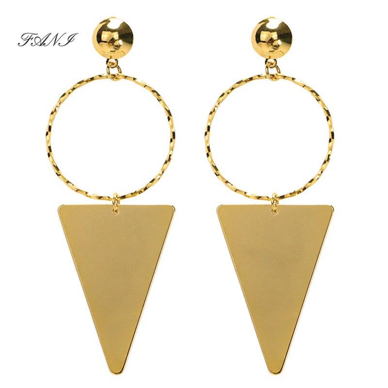 Fani 2019 Geometry Stainless Steel Dangle Earrings Women Jewelry Gold Color Drop Earring Jewelry ouija boucle d'oreille longue