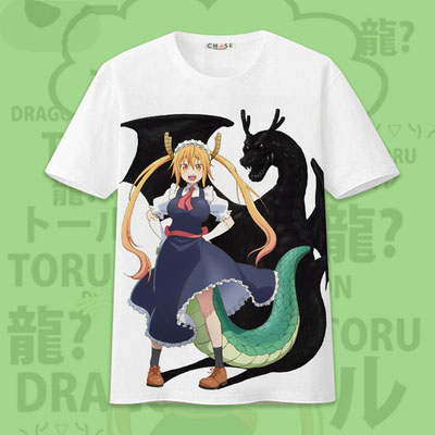 New Clothing Made Anime Kobayashi san Chi no Maid Dragon Kanna kamui Spring summer T-shirt