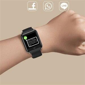Image 5 - Montre intelligente Q9 pression artérielle fréquence cardiaque moniteur de sommeil Bracelet IP67 étanche Sport Fitness Trakcer montre hommes femmes Smartwatch