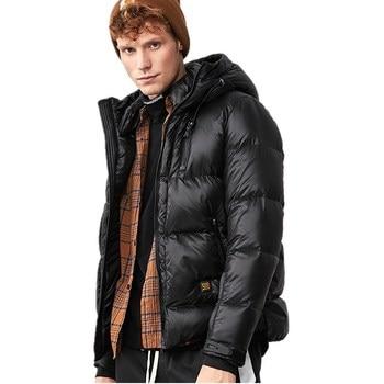 ecd03754ee147 Parte superior de los hombres de invierno abajo chaqueta 90% pato blanco  abajo de la chaqueta de los hombres engrosamiento jóvenes brillante de  marea de la ...