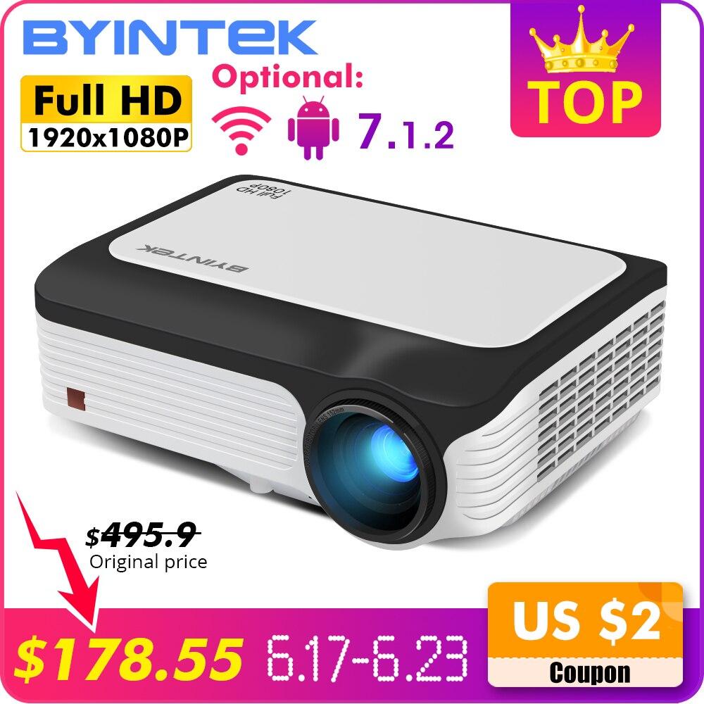 BYINTEK M1080 Inteligente (2 GB + 16 GB) android WIFI FULL HD 1080 P LED Portátil Mini Projetor 1920x1080 de Vídeo LCD Para Iphone SmartPhone