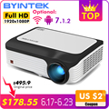 BYINTEK M1080 Smart (2 GB + 16 GB) android WIFI FULL HD 1080 P Draagbare LED Mini Projector 1920x1080 LCD Video Voor Iphone SmartPhone