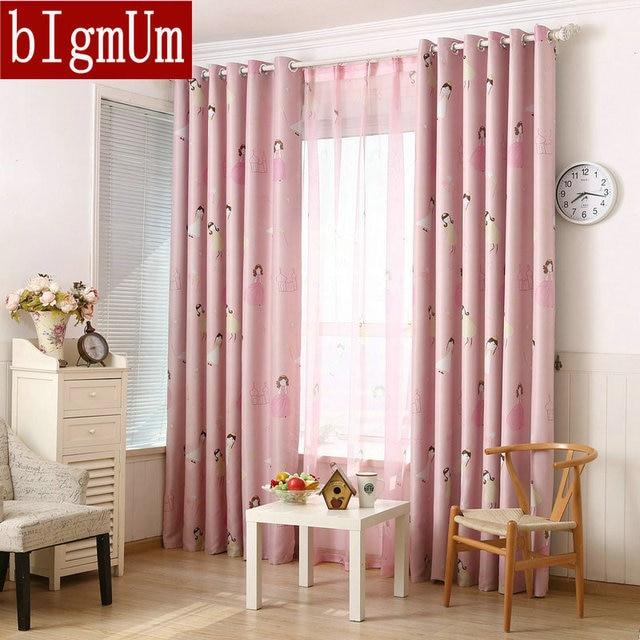 US $10.88 41% OFF| bIgmUm Rincess Girls Cartoon Child Curtains Window  Decoration For Child Bedroom Curtain Drapes Home Kids Kids Cortina Para  Sala-in ...