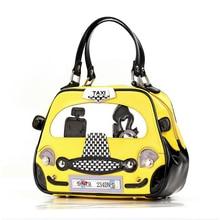 30x21CM 2016  Summer New Fashion Stitching Italian Taxi Lovers Handbag Shoulder Messenger Bag Women A2625~3
