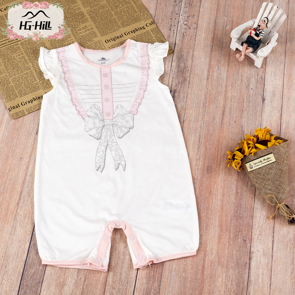 HG hill SS18 0045 newborn 0 18M baby girls cotton infant toddler clothes children summer romper