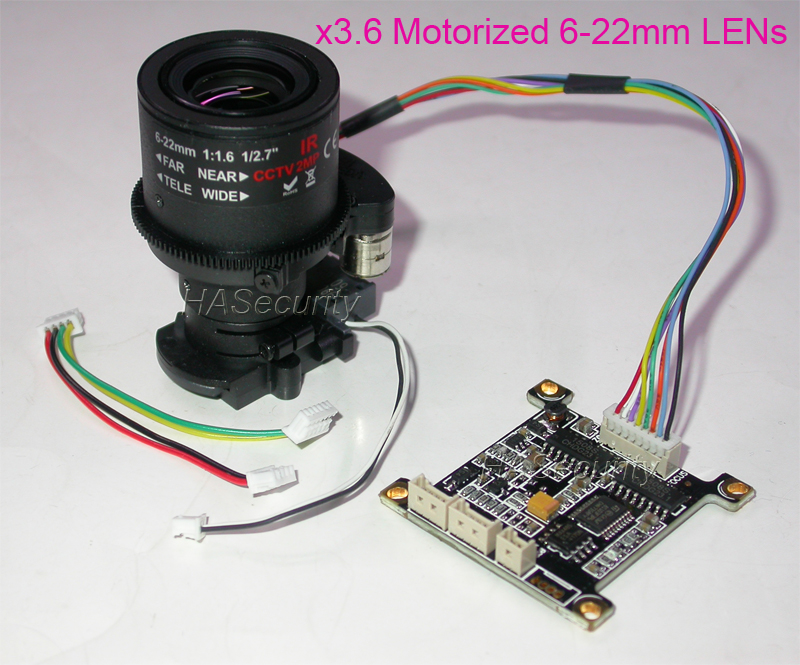 Manually Adjustment Motorized 6-22mm Zoom LENs + Control Board + IRC For CCTV IP Camera Installation (NOT Support Auto Focus)