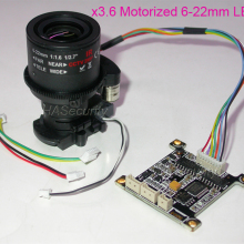 Ручная регулировка моторизованный 6-22 мм зум-объектив+ плата управления+ IRC для установки ip-камеры видеонаблюдения(не поддерживает автофокус