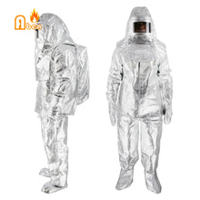 Free shipping Can resistant 1000 degree Fireman rescue suit(China)
