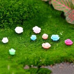 5 шт. Новый Лидер продаж красочные мини моделирования цветы сказочный сад, миниатюра украшения для террариума украшение для минисада
